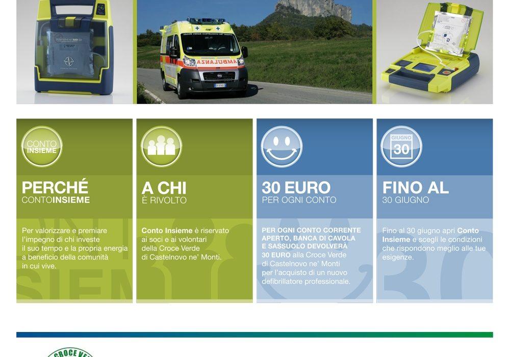 """Conto """"Insieme"""" Banca di Cavola e Sassuolo e Croce Verde Castelnovo ne' Monti"""