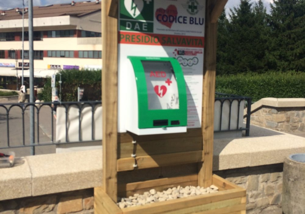Inaugurata Prima Colonnina Defibrillatore. Tutti insieme per Castelnovo Cardioprotetto