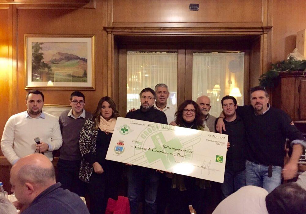 Cena Sociale 2014 – Donati 1500€ al Comune per i più Bisognosi