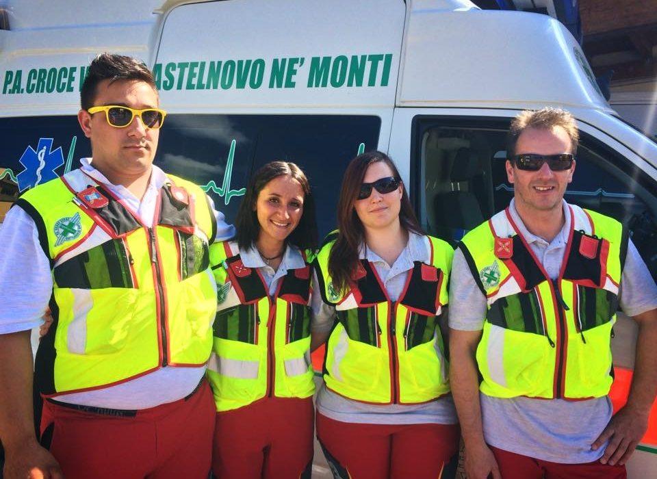 Torneo Sanitario 3 Confini – Equipaggio della Croce Verde presente.