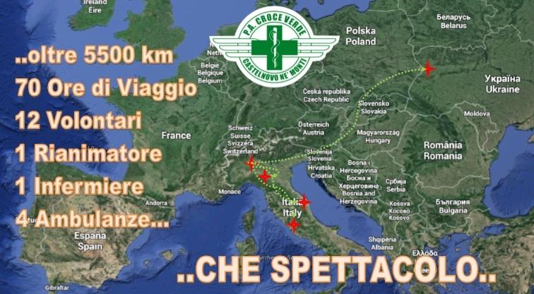 4 Ambulanze, 12 Volontari, 70 ore di Viaggio e oltre 5500 in 2 giorni – Che spettacolo !!!