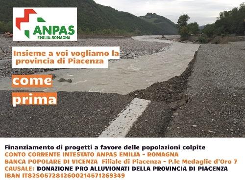 Raccolta Fondi Pro Alluvionati della Provincia di Piacenza