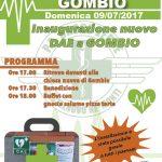 Inaugurazione DAE a Gombio